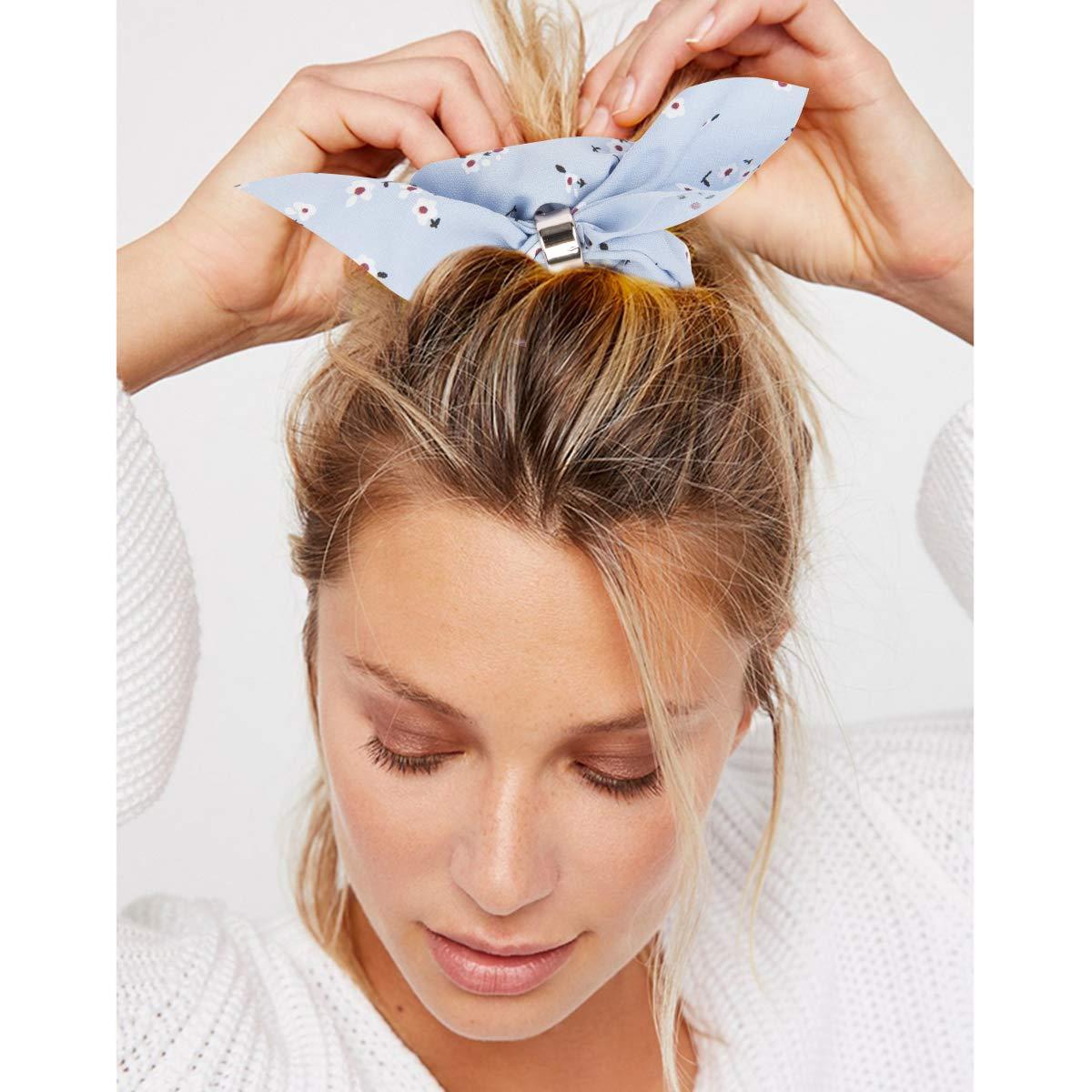 Jaciya 18 Pack Women/'s Hair Scrunchies Chiffon Flowers Elastic Hair Bands--USA