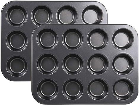 2 moldes para horno con 12 agujeros para cupcakes, de Stonges ...