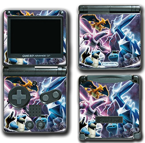 Pokemon Go Black and White X Y Diamond Pearl Dialga Palkia Video Game Vinyl Decal Skin Sticker Cover for Nintendo GBA SP Gameboy Advance System