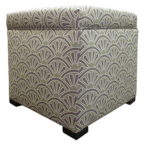 Sole Designs Bonjour Themed Series Tami Collection Dijon Finish Upholstered Bedroom Lift Top Storage Ottoman Dijon Finish