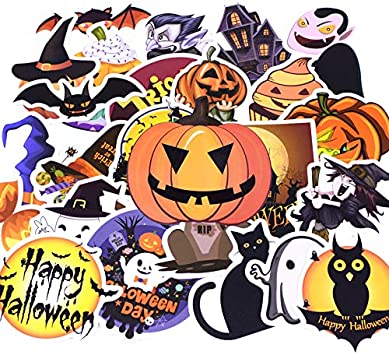 TUDUDU 25Pcs/Pack Moda Halloween Día Graffiti Pegatinas Niño Juguete Pegatina para DIY Equipaje Portátil Monopatín ...