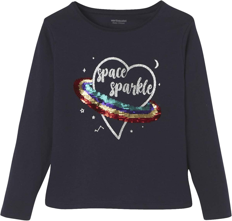 VERTBAUDET Camiseta de Lentejuelas Reversibles para niña: Amazon.es: Ropa y accesorios