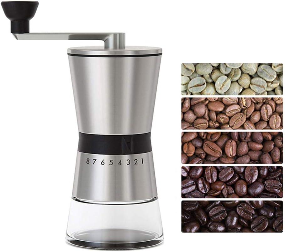tragbare manuelle Kaffeem/ühle M/ühle Edelstahl Handkurbelm/ühle Kaffeebohnen-Espressom/ühle f/ür zu Hause Manuelle Kaffeem/ühle im B/üro und im Caf/é