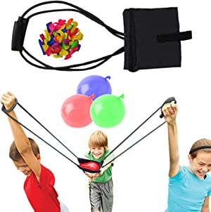 Water Balloon Launcher / Cannon / Slingshot / Potato Catapult - Waterballoon Baloons ballons Bulk Bunch Sling Shots Shot – TShirt Gun Summer Outdoor Water Ballon Bombs Toy & Games for Kids & Adults