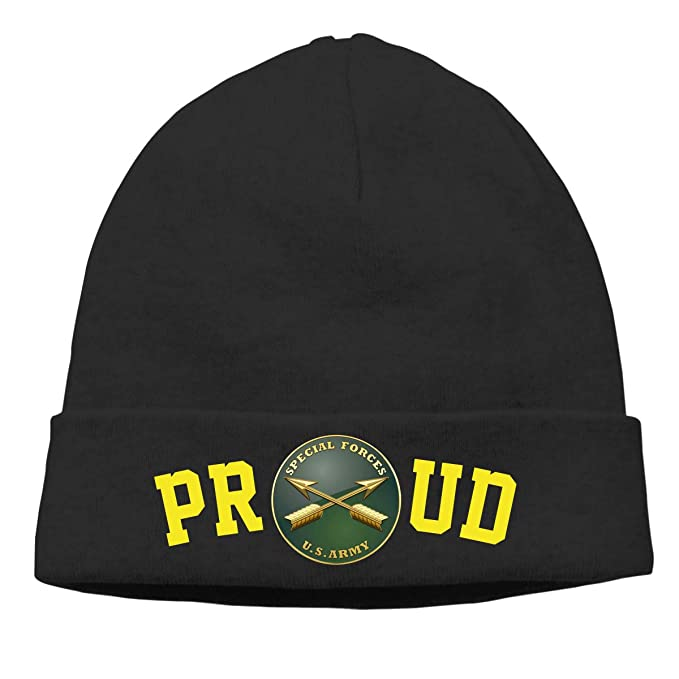 018324adc64 Proud US Army Special Forces Mens Beanie Cap Skull Cap Winter Warm Knitting  Hats.