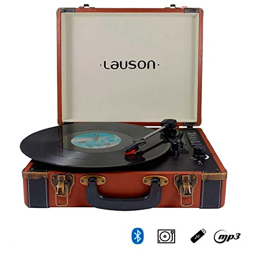 TOCADISCOS MALETIN LAUSON CL605 PIEL