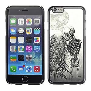 """For Iphone 6/6S (4.7 INCH) Case , Amor Death Metal Esqueleto Cráneo blanco"""" - Diseño Patrón Teléfono Caso Cubierta Case Bumper Duro Protección Case Cover Funda"""