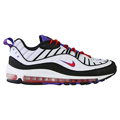 Nike Air Max 98 Sneakers Bianco Nero Viola Rosso 640744 110