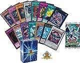 Yugioh Mega Lot of 100 Cards! 10 Random Holos! 1 Random Yugioh Booster Pack! Includes Golden Groundhog Deck Box!