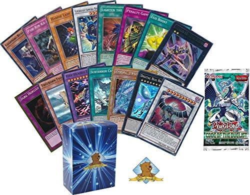 Yugioh Mega Lot of 100 Cards! 10 Random Holos! 1 Random Yugioh Booster Pack! Includes Golden Groundhog Deck Box! by GoldenGroundhog