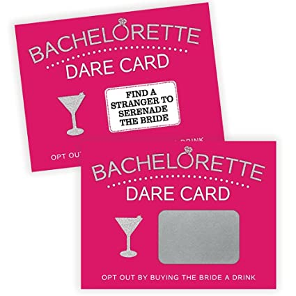 Amazoncom Bachelorette Dare Card Party Game 20 Scratch Off Cards