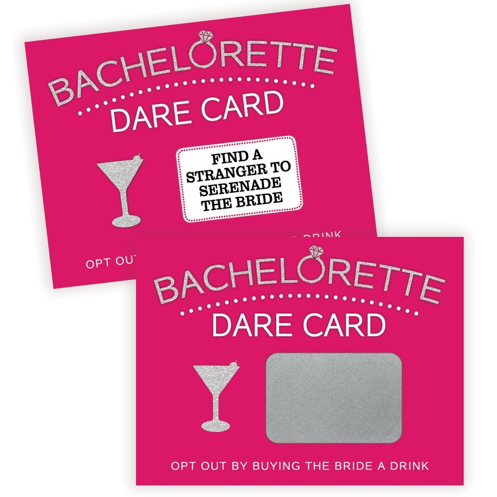 Bachelorette Dare Card Party Game | 20 Scratch Off Cards | Bachelorette Party Ideas, Girls Night Out Activity, Bridal Party Game