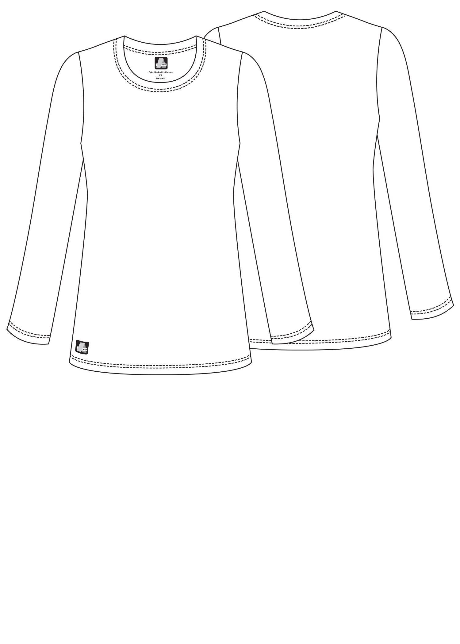 ADAR UNIFORMS Adar Womens Comfort Long Sleeve T-Shirt Underscrub Tee - 2900 - Burgundy - M by ADAR UNIFORMS (Image #6)