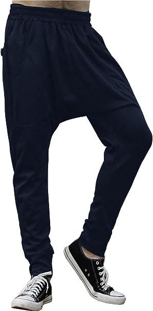 MUST WAY Mens Outdoor Casual Elastic Waist Chino Jogger Sports Harem Pants