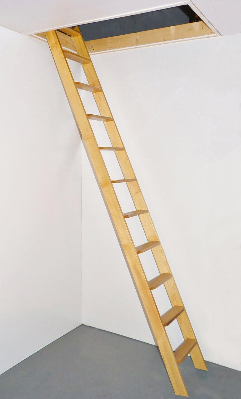 Dolle Escalera de madera recta de una pieza para altillo: Amazon.es: Bricolaje y herramientas