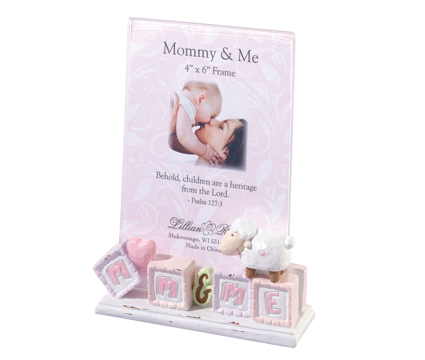 Lillian Rose Mommy and Me Picture Frame, Little Lamb, 4 x 6 4 x 6 SF 24FR212 LM