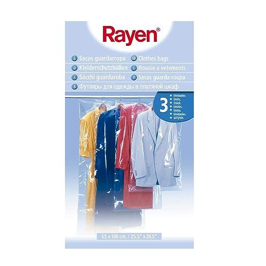 Rayen 6045 3 Bolsas para Guardar Ropa, Polietileno, 65 x 100 cm