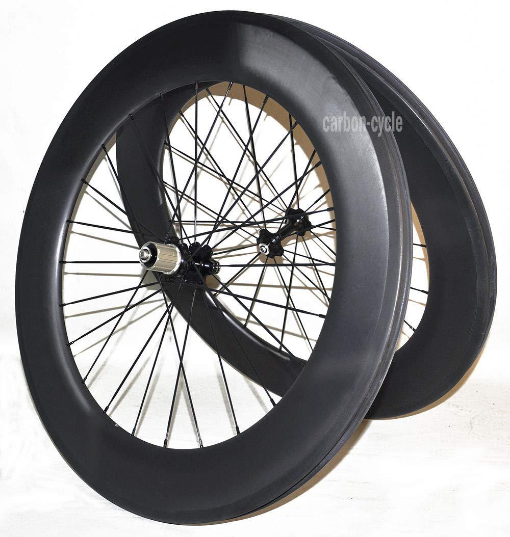 FidgetFidget カーボン管状ロード自転車ホイール バサルトリムブレーキ UDマット 700C 27mm リム86mm   B07JVB1DN9