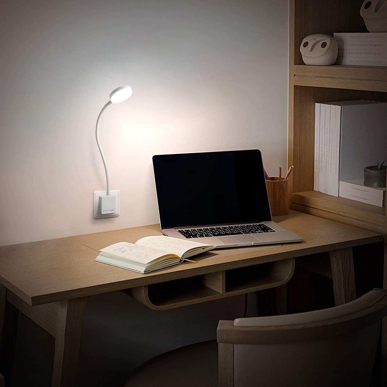 Luces Apliques de Pared LED de Taller Trabajo de LED Regulable con Enchufe Control Remoto Inalambrico 4W 350Lm Luz Fria 5000K Enchufe Europeo 2X Lamparas y 2X Control Remoto de Enuotek