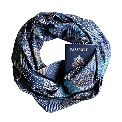 Twilight Hills Infinity Scarf with Zippered Secret Pocket