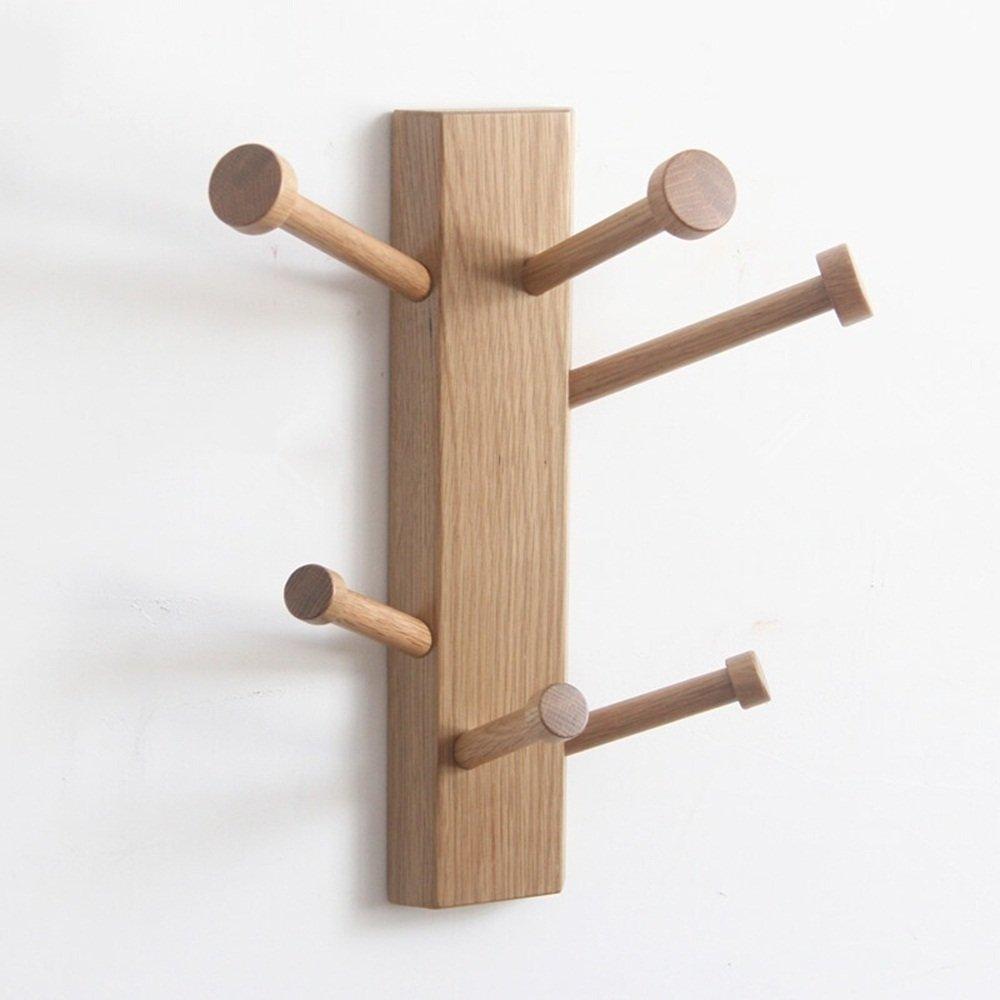 Solid Wooden Wall Coat Rack / Doors Hanging Brackets / Wall Mounts Walls / Walls Multi-angle Hanger ( Color : 2 )