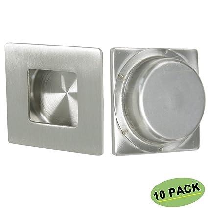 Sliding Closet Door Pulls Handles 10 Pack Homdiy Mc009 Square