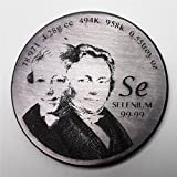 Tribute to Selenium Discoverer 1.5 inch 38.1mm diameter Pure Se Metal Coin