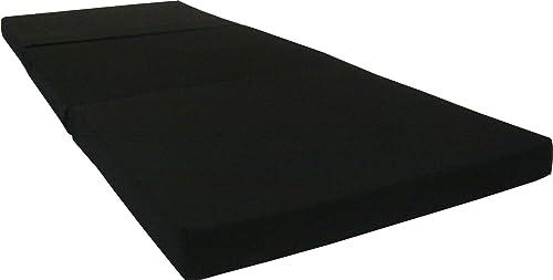 D&D Futon Furniture black Trifold Foam Beds