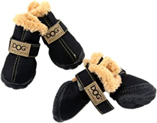 4pcs Pet Dog Winter Snow Rain Boots Shoes Puppy Thick Footwear For Teddy Yorkshire Dachshund Husky