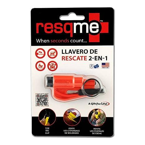 RESQME® 2 in 1 Keychain Rescue Tool Orange: Amazon.es: Coche ...