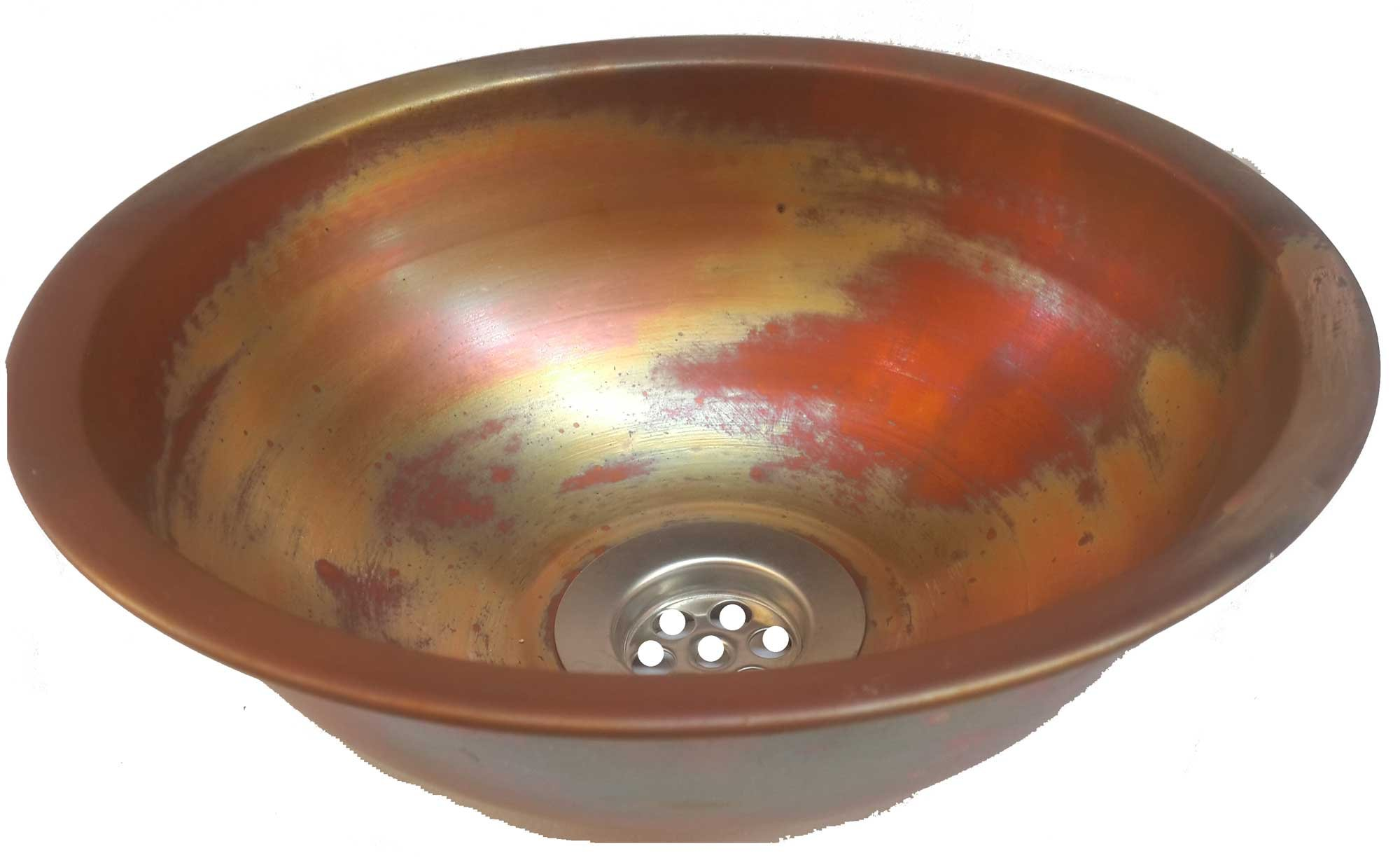 Egypt gift shops Satin Smooth Very Small Compact Copper Bowl Basin Toilet Bathroom Sink Lavatory Cabin Motor Van Caravan Portable Home Renovation by Egypt gift shops (Image #6)