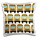 3dRose School Bus-Pillow Case, 16 by 16'' (pc_183198_1)