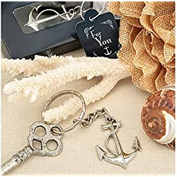 Ocean Themed Anchor Key Chain Beach Wedding Favors , 144