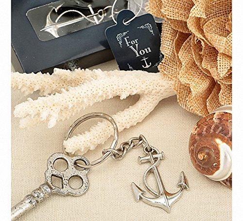 Ocean Themed Anchor Key Chain Beach Wedding Favors , 48