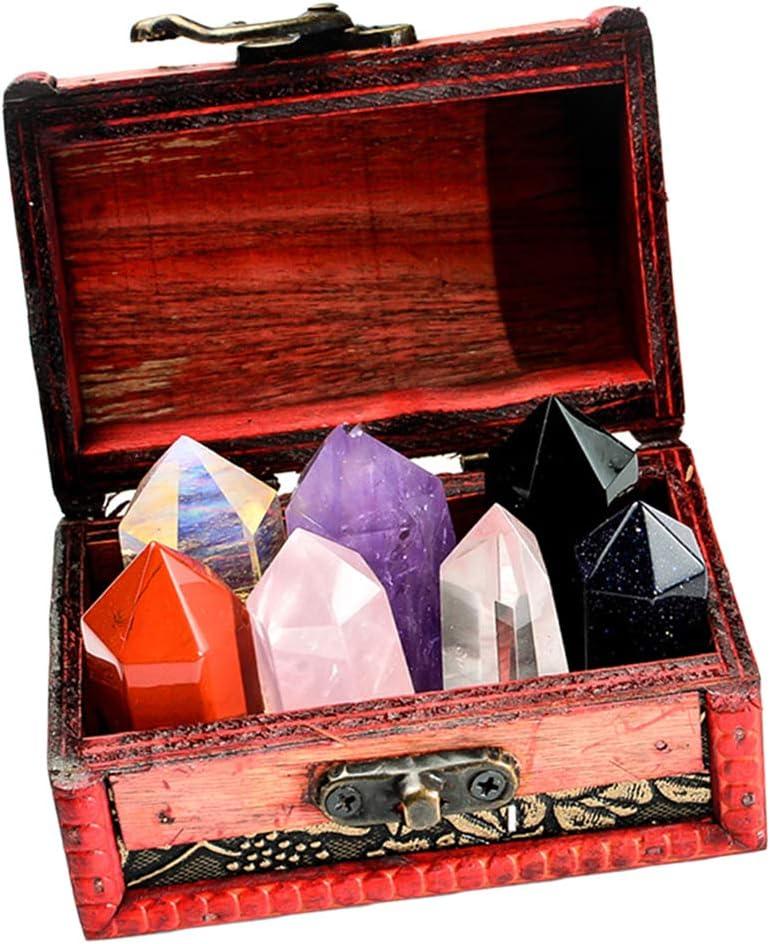 CUTICATE Caja de 7 Minerales Colección de Rocas Geológicas Ciencia de Tierra Cuarzo de Roca: Amazon.es: Juguetes y juegos