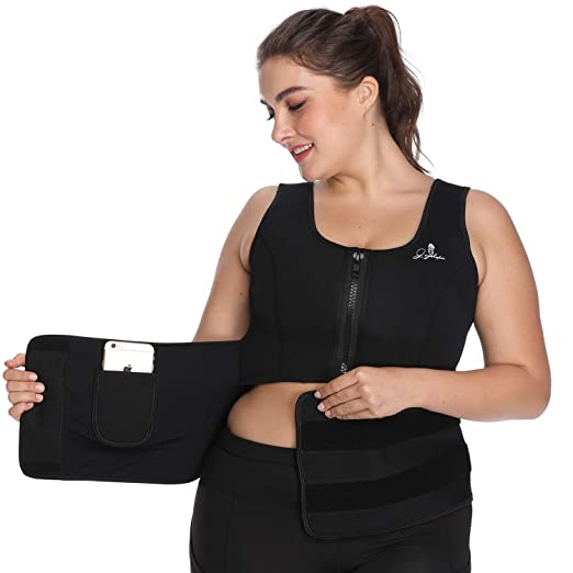 0feaab5de2bc2 Waist Trainer Corset for Weight Loss Women Sauna Suit Workout Neoprene  Sweat Vest Body Shaper (