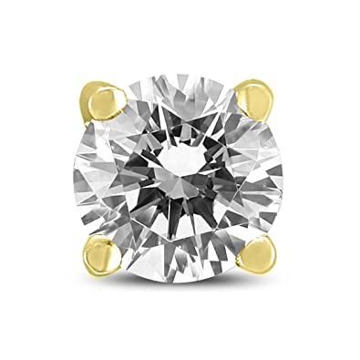 b6bdd3889 Round Single Stud Diamond Earring in 14K Yellow Gold - Stone Weight: 0.23  carat