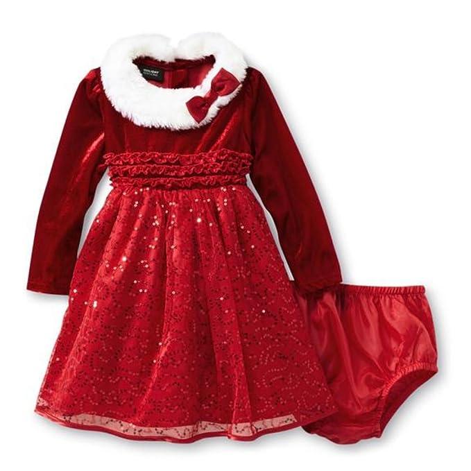 Holiday Edition - Vestido - para bebé niña Rojo Rojo: Amazon.es ...