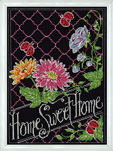 (Design Works Crafts Home Sweet Home Chalkboard Counted Cross Stitch, 10 by 14