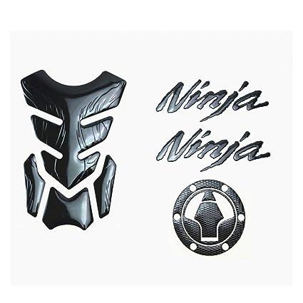 Motorcycle Fuel Gas Tank Protector Pad Sticker and Tank Cover Sticker For Kawasaki Ninja Z250SL Ninja250/300 EX300R (Black)