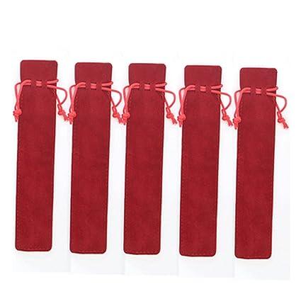 20 bolsas de terciopelo con cordón de color rojo para ...