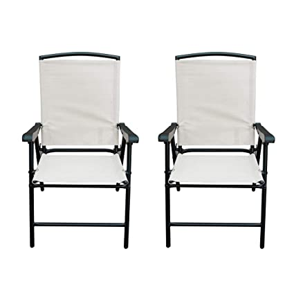 Amazoncom Sunlife Modern Outdoor Folding Lawn Chairs With Steel