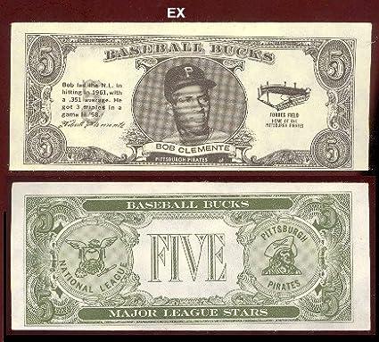 1962 Topps Baseball Bucks Baseball Card 17 Roberto Clemente Of