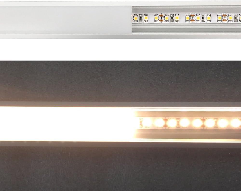 LightingWill Profil/é LED en aluminium syst/ème de canaux noir en U avec largeurs internes U02B5 paquet de 5 pi/èces 3.3ft 9x17mm