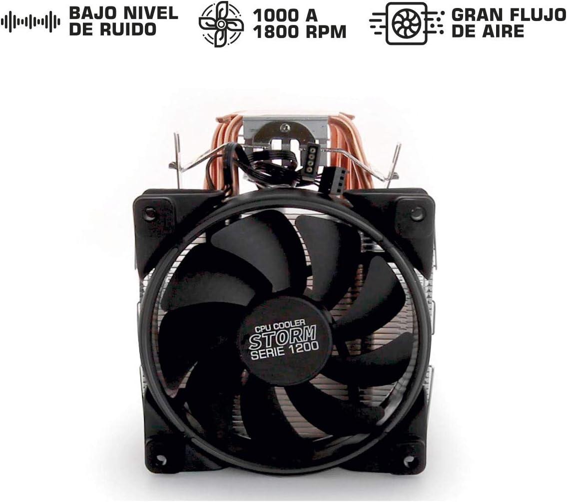 5 tubes en cuivre faible bruit 1000 /à 1800 tr//min Syst/ème de refroidissement dunit/é centrale STORM Gaming ventilateur de PC avec LED RGB Radiateur avec grand flux dair YEYian