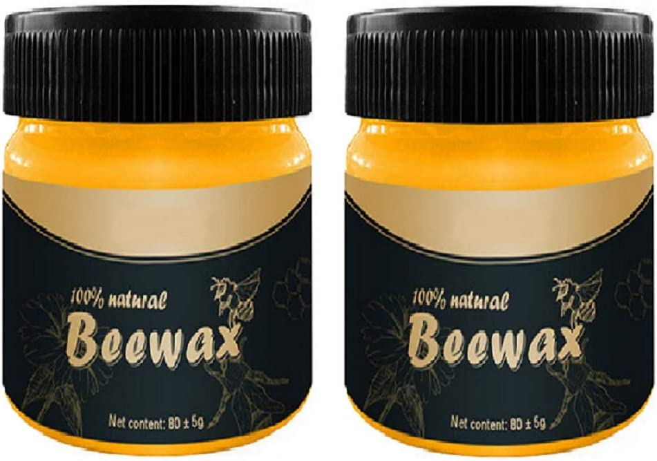 2 PACK Beeswax Furniture Polish,Wood Seasoning Beeswax,Traditional Wax Polish for Wood & Furniture, All-Purpose Beewax for Wood Cleaner and Polish Wipes-Furniture Care