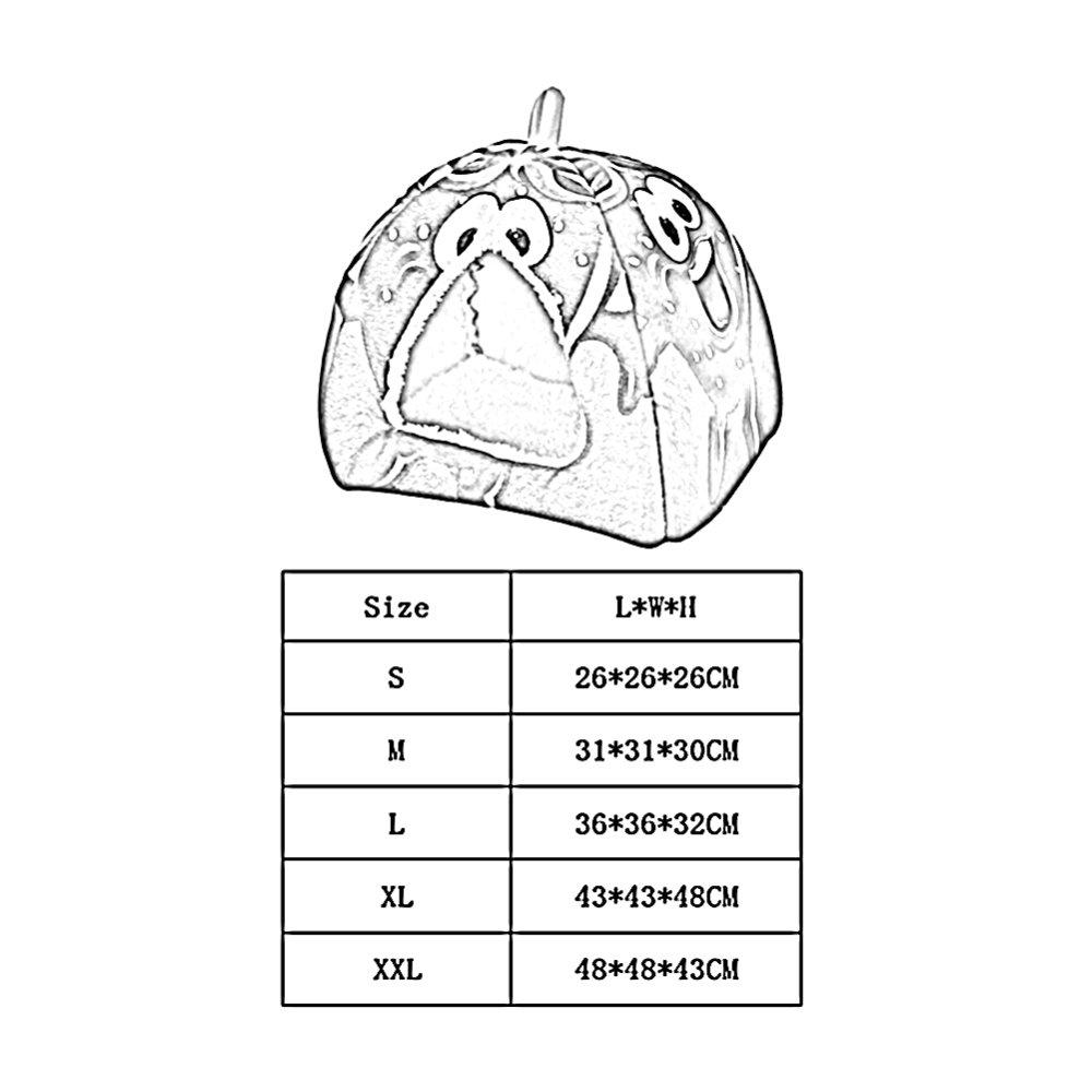 ZHWEI Caseta Cama Mascota Mascotas Suministros Desmontable Lavado Usado para Gato Perro, 02, Small: Amazon.es: Hogar
