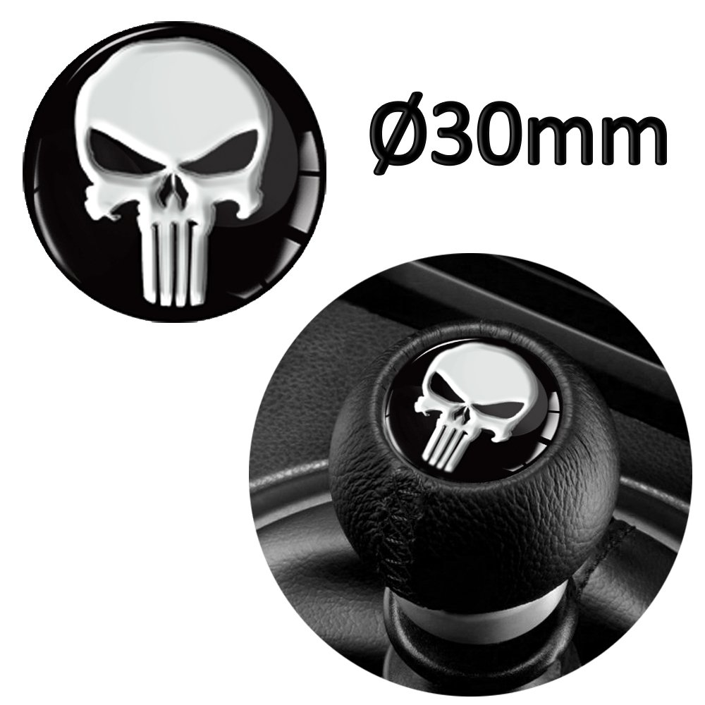 Skino 1 x 3D Silicone Sticker Renovation for Shift Gear Lever Shifter Knob Auto Tuning Punisher S 53