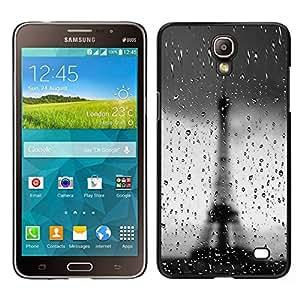 EJOY---Cubierta de la caja de protección para la piel dura ** Samsung Galaxy Mega 2 ** --Arquitectura Bokeh Rainy Torre Eiffel