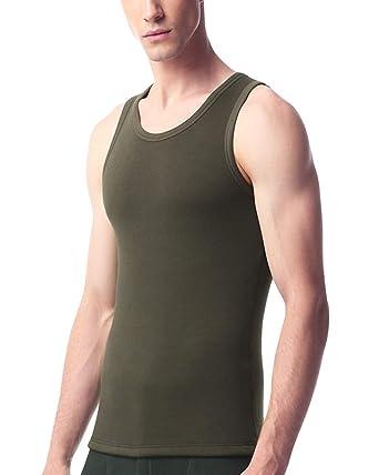 f158d251ba4df DULEE Men s Round Collar Winter Underwear Fleece Thermal Underwear  Sleeveless Tank Top Underwear Camisole Vest